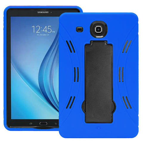 Samsung Galaxy Tab E 9.6 / T560 Hybrid Silicone Case Cover Stand Blue