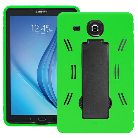 Samsung Galaxy Tab E 9.6 / T560 Hybrid Silicone Case Cover Stand Green