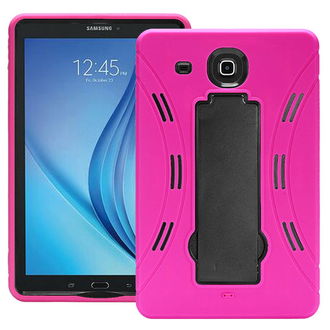 Samsung Galaxy Tab E 9.6 / T560 Hybrid Silicone Case Cover Stand Pink