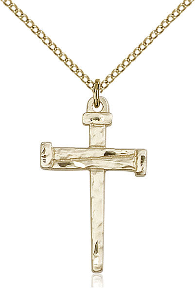 Gold-Filled Nail Cross Necklace Set