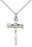Sterling Silver Nail Cross Necklace Set