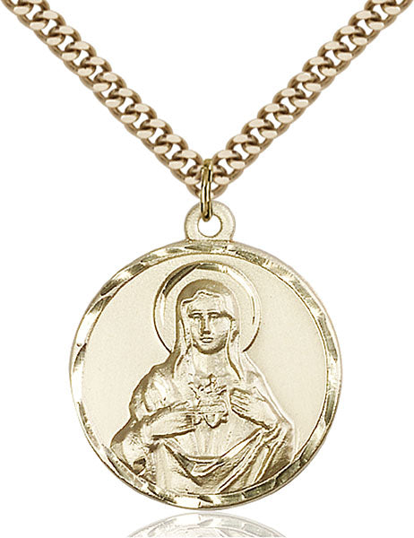 Gold-Filled Immaculate Heart of Mary Necklace Set