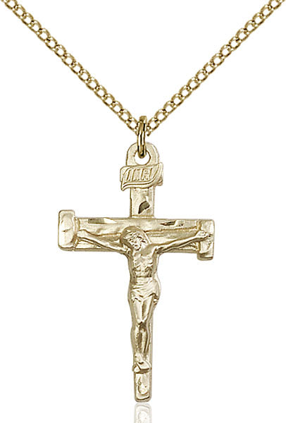Gold-Filled Nail Crucifix Necklace Set