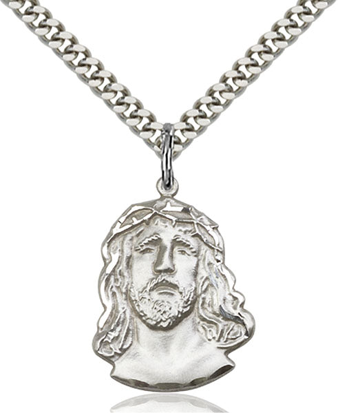 Sterling Silver ECCE Homo Necklace Set