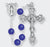6MM Glass Round Bead Lock Link Lapis Color Rosary