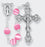 6MM Glass Round Bead Lock Link Rose Rosary