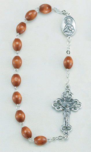 Natural Wood Bead One Decade Rosary