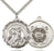 Sterling Silver Saint Michael and Coast Guard Necklace Set