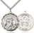 Sterling Silver Saint Michael and National Guard Necklace Set