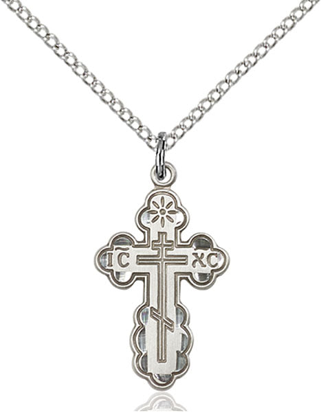 Sterling Silver Saint Olga Necklace Set