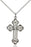 Sterling Silver Russian Cross Necklace Set
