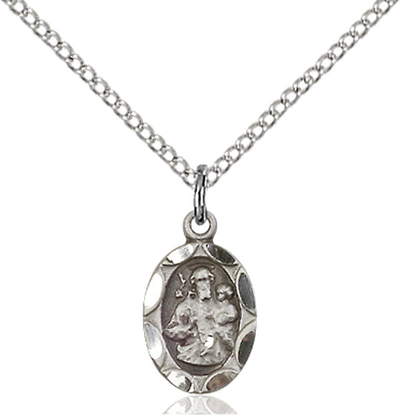 Sterling Silver Saint Joseph Necklace Set