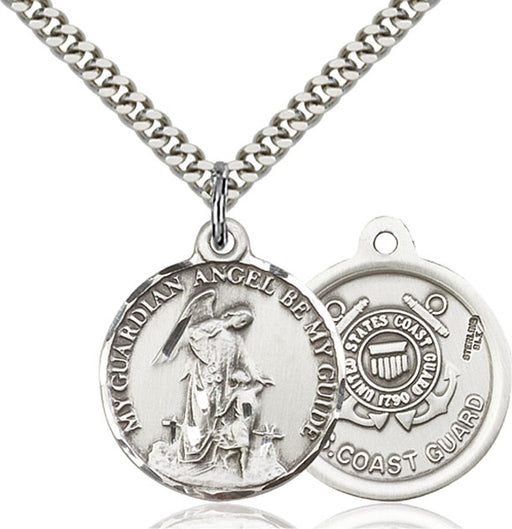 Sterling Silver Guardain Angel and Coast Guard Penda