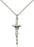 Sterling Silver Papal Crucifix Necklace Set