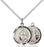 Sterling Silver Our Lady of La Salette Necklace Set