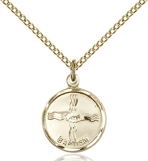 Gold-Filled Baptism Necklace Set - Engravable