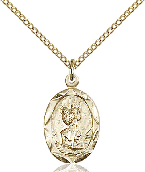 Gold-Filled Saint Christopher Necklace Set