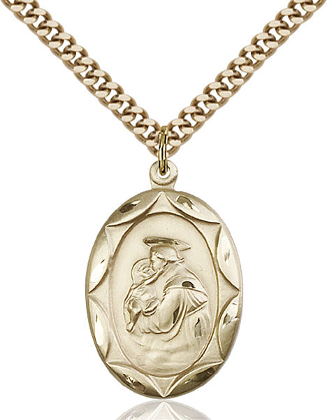 Gold-Filled Saint Anthony Necklace Set