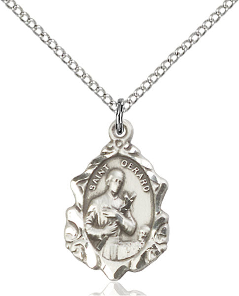 Sterling Silver Saint Gerard Necklace Set