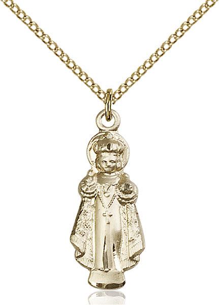 Gold-Filled Infant of Prague Necklace Set