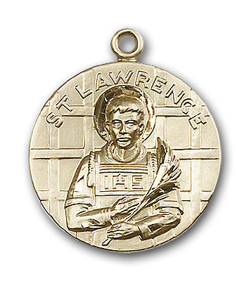 14K Gold Saint Lawrence Pendant - Engravable