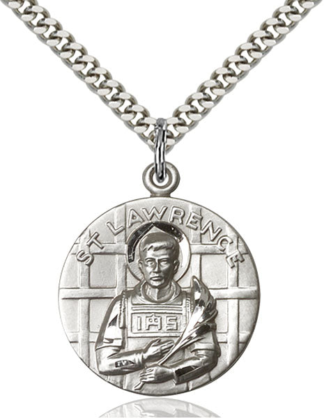 Sterling Silver Saint Lawrence Necklace Set