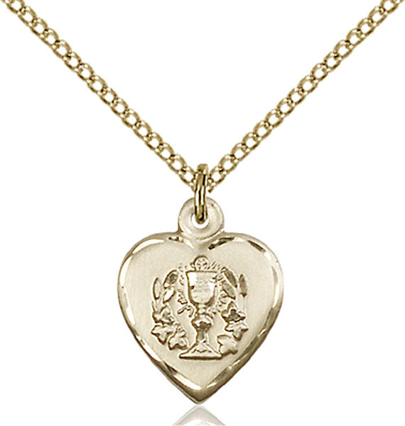 Gold-Filled Heart and Communion Necklace Set