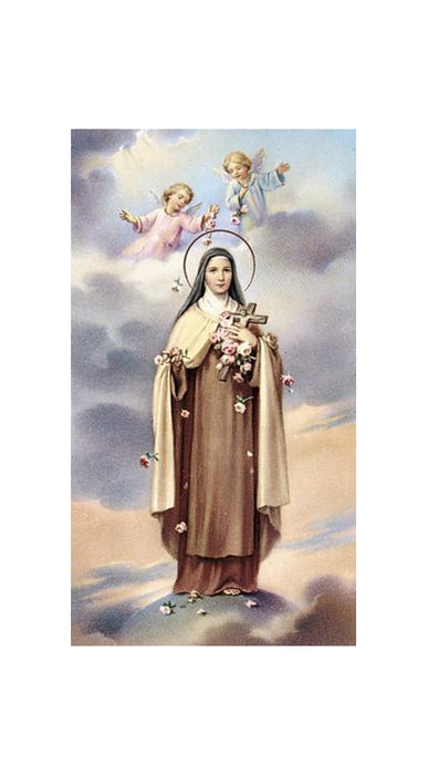 St Theresa Holy Card