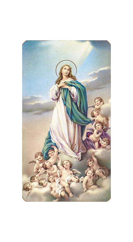 The Assumption Holy Card