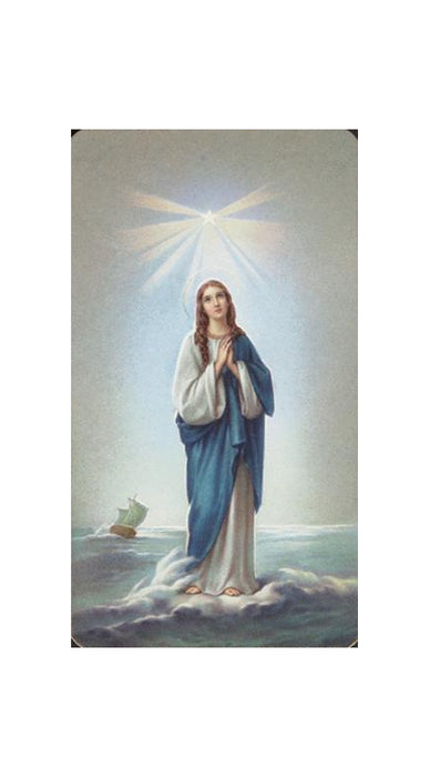 Ol Star Of The Sea Holy Card