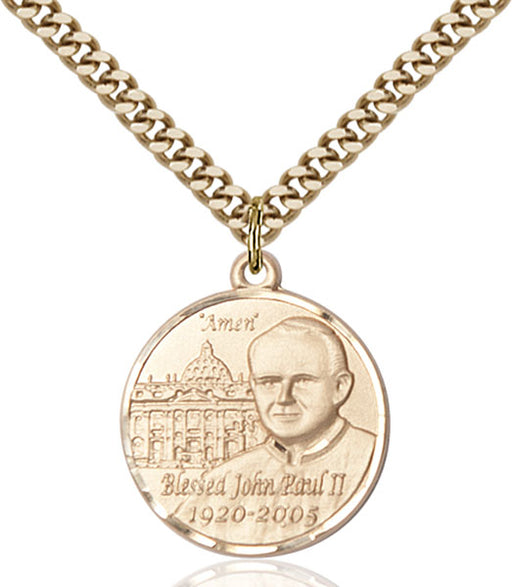 Gold-Filled Pope John Paul II Necklace Set