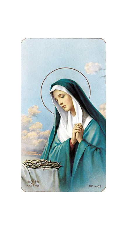 100-Pack - Sorrowful Madonna Holy Card
