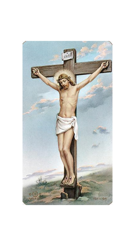 100-Pack - Crucifixion Holy Card