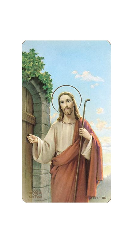 100-Pack - Christ Knocking Holy Card