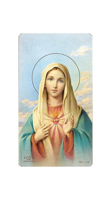 100-Pack - Immac. Heart Of Mary Holy Card