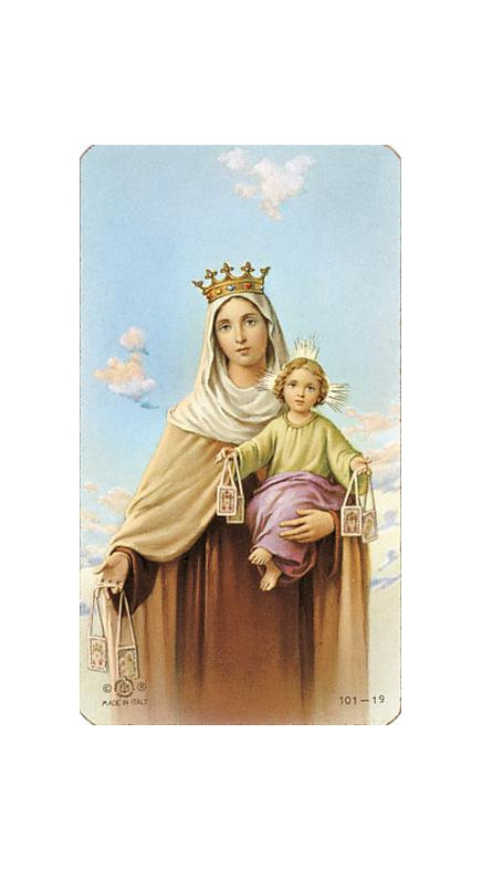 100-Pack - Our Lady Of Mt Carmel Holy Card