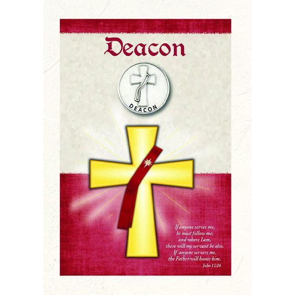 Deacon Premium Greeting Card with removable token