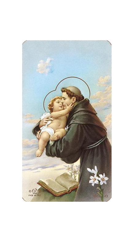 100-Pack - Saint Anthony Paper Holy Card