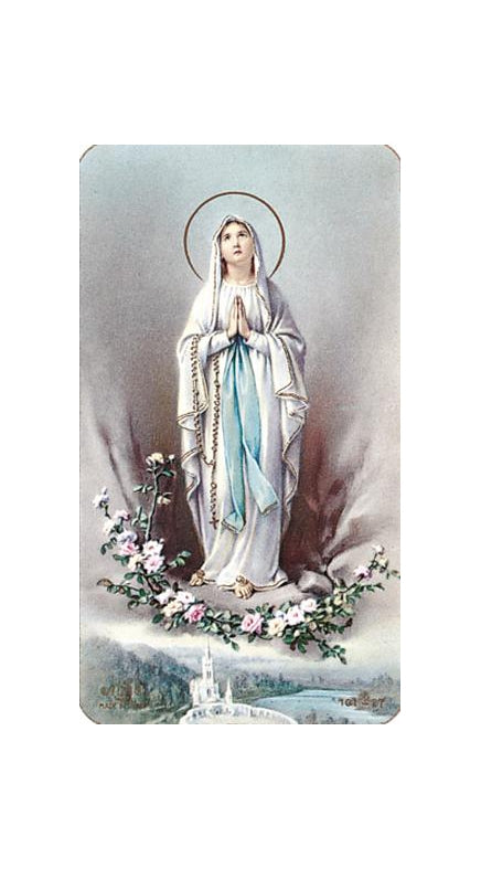100-Pack - Our Lady Of Lourdes Holy Card