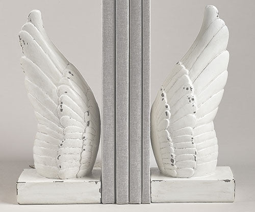 9.75-inchH 2Pc Set Wing Bookends