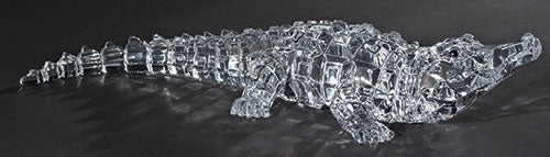 2.5-inchH Acrylic Alligator Figurineure