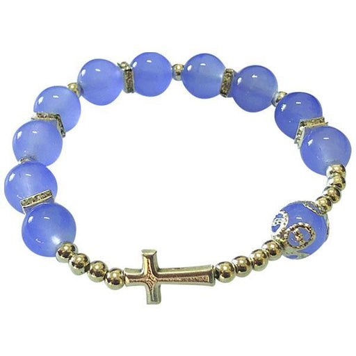 Blue Cross Stretch Bracelet