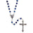 Metallic Crystal Rosary - Blue