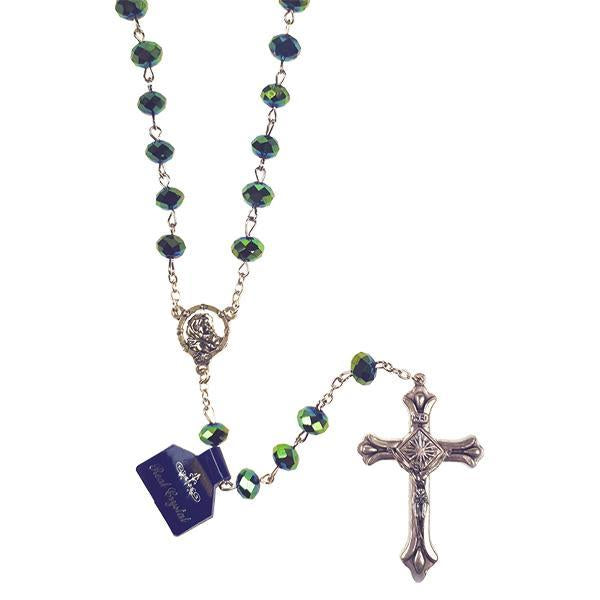 Metallic Crystal Rosary - Green