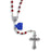 AB Crystal Rosary with Silver Filigree Our Father Beads - Red