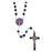 Saint Benedict Rosary with Enameled Center 7mm beads - Enamel center