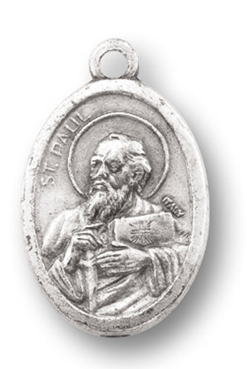 St Paul The Apostle/Pfu Oval Oxidized Medal 25-Pack