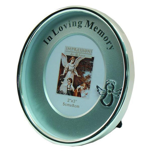 Silver-tone In Loving Memory Oval Picture Frame