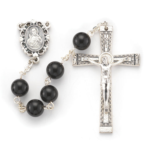 8MM Onyx Genuine Stone Rosary