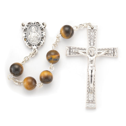 8MM Tiger Eye Genuine Stone Rosary